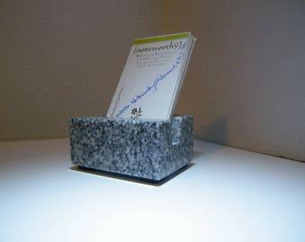 Vertical Business Card Holder/Vertical Card Holder/Business Card Holder/Vermont Granite Business Card Holder/ Stone Business Card Holder