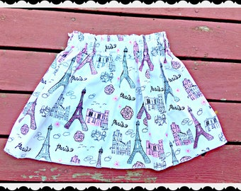 girls PARIS skirt 4/5 6/6X 7/8 10/12 14/16 ready to ship 2T 3T 4T 5T