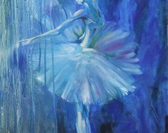 Ballerina oil on canvas painting