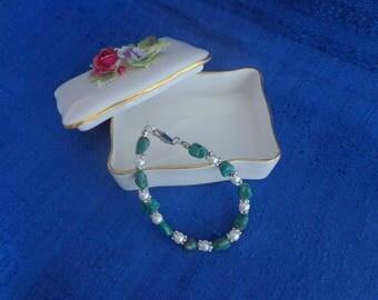 Tumbled Turquoise Nugget Bracelet,Turquoise and Pearl Bracelet,Wedding Bracelet,Wedding Jewelry,Western Wedding Jewelry,Bridal Bracelet