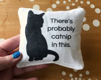 Catnip Toy Pillow, Catnip in this Toy Pillow, Catnip Pillow, Cat Toy, Cat Pillow