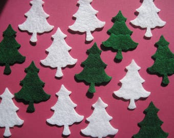 Felt Die Cut PINE TREES -- Great for crafts, wax dipping, and garlands. Perfect for Christmas decorating and designing.