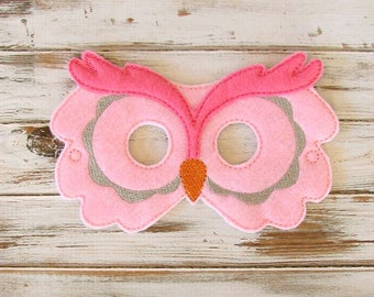 Owl Mask - Kids Animal Mask - Pretend Play - Dress Up - Halloween - Party Favors