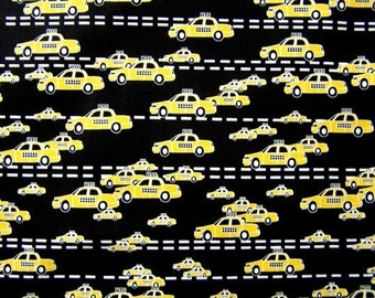 Yellow Taxis in the City - Quilting Cotton  [[by the half yard]]
