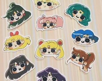 Fanart - Sailor Scouts Stickers