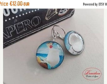 On sale pina colada coconut and Silver earrings