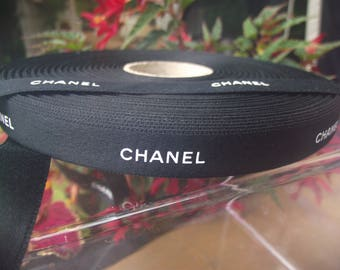 Authentic Real Chanel ribbon by the yard, 1/2 inch wide