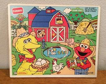 VTG Playskool Lift & Look Fun On The Farm 376-02 1993 Jim Henson Prod. 5 Pieces