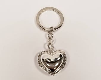 Sterling Silver Waterford Heart Key Chain