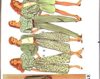 Butterick Pattern 5375 Misses Jacket, Top, Split Skirt and Pants UNCUT Size: 6-8-10