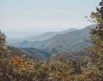 Blue Ridge Mountains - Gorges State Park - North Carolina Mountains Autumn Fall Forest Nature Water Fine Art Photography Print