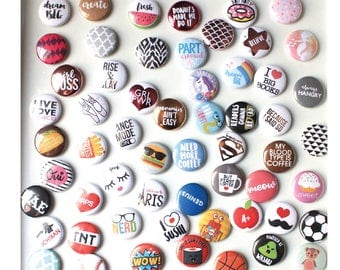 "Your Pick- Mix & Match 1"" Button Pins"
