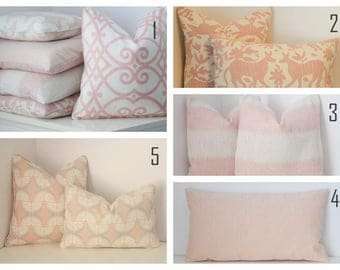 Blush Pink Pillow, Pink Pillow Cover, Pale Pink Pillow Covers, Millennial  Pink Pillow Part 38