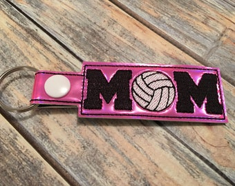 Volleyball Mom - Key Fob In The Hoop - DIGITAL Embroidery DESIGN