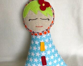 2 rag dolls, Stuffing dolls, They measure 25 cm.