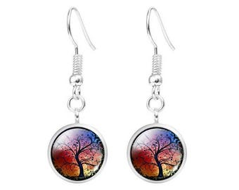Tree of life colorful earrings