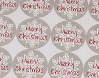 Santa Claus 12 autocolllantes Merry Christmas labels