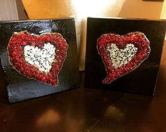 My Heart and My Love - Set of 2 paintings
