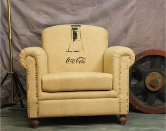 Coca Cola Coke Vintage Replica Club Chair Van Gogh Canvas The Kings Bay