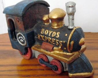 Boyd's 1998 cast iron Express, Train, rairoad engine, cast iron train, tagged and MIB. cast iron toys, collector toys