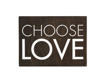 choose love wood sign, equal rights, equality, lgbt, love is love, love wall art, love wall decor, love sign, rustic love sign, farmhouse