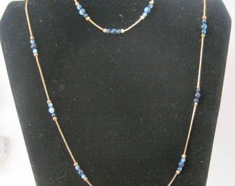 Vintage Gold Tone Necklace and Bracelet Set
