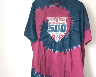 Vintage tie dye Tshirt T13 Indianapolis