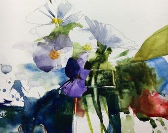 "1131 original watercolor 8x10"""