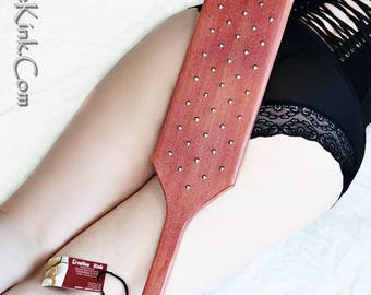 BDSM Torquemada Studded Paddle -Pink Greek Style Torquemada with Silver Studs