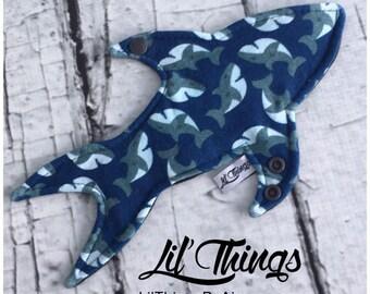 "10"" Shark Cloth Menstrual Pad PDF Pattern perfect for Shark Week"