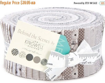 Anniversary Sale Behind the Scenes Jelly Roll 40 2.5-inch Strips Moda Fabrics~Fast Shipping,JR339