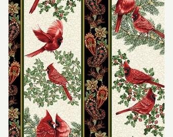 Summer Sale- A Festive Season~Stripe Holiday~Christmas Cotton Fabric by~Benartex~Fast Shipping HC442