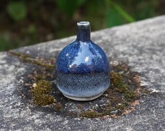 Mini Ceramic Vase - Blue Storm