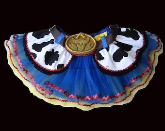 Cowgirl Tutu . Little Girls to Adult Plus Size . Jessie Tutu . Running Skirt . Belt . 6 Layers . Tutu SHORT Length 11in
