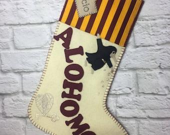 Harry Potter christmas stocking. Personalised Gryffindor, hogwarts, slytherin, hufflepuff, ravenclaw