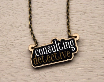 Consulting Detective Wooden Necklace