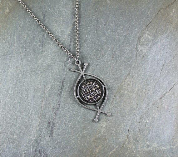 Celtic Rune Stone pendant necklace ~ Artisan Handcrafted