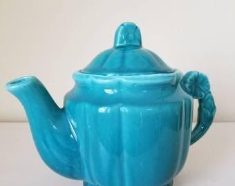 Vintage Floral Handled Teapot
