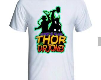 Women - Big Bang Theory - Thor and Dr Jones white t-shirt