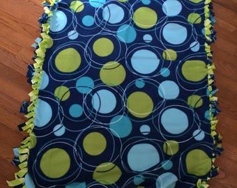 Patterned fleece blanket, great gift,