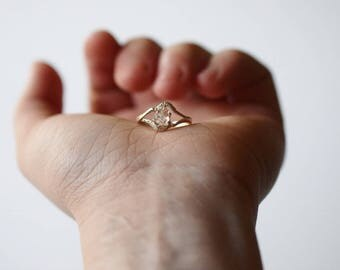 Raw Diamond Ring Engagement Ring  Rough Diamond Ring Natural Diamond Ring