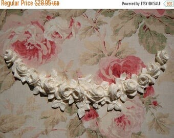 Sale 10% Shabby Chic French Roses Swag Garland Lg Furniture Applique Architectural