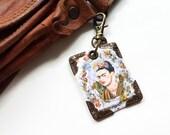 Frida Khalo keyring,bag charm, purse charm,bag tag,bag accessory,key chain,charm,bag charm,fun keyring,vintage keyring,