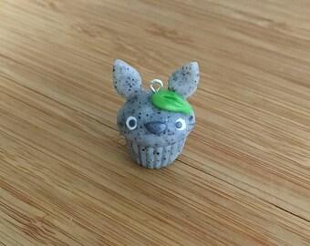 Totoro Cupcake - Stitch Marker or Progress Keeper Charm