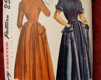 41% OFF 1949 Junior Teen One Piece Dress with Detachable Skirt Vintage Simplicity Sewing Pattern 3009 Size 15 Bust 33