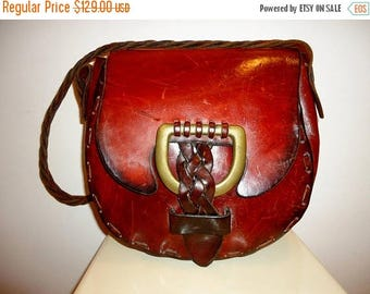 The SALE Is On SALE Must See Authentic Vintage Leather Saddle Bag