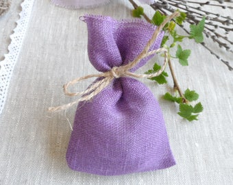 Tea burlap bags - Green jute favor bags 75 - Wedding gift bags & jewelry bags blue - Small bags -Jute bags