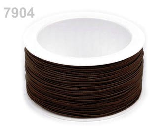 3 m elastic round 1.2 mm Brown 7904