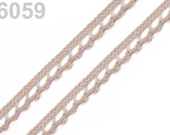 6059 - Cotton lace 9 mm beige taupe