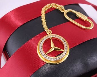 Mercedes jewelry etsy for Mercedes benz 18k gold ring